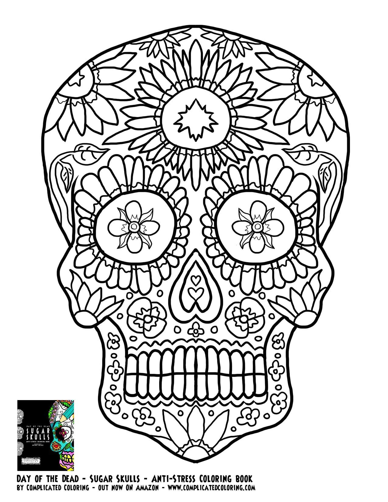 1275x1650 Adult Coloring Pages Abstract Skull Coloring Pages Inside