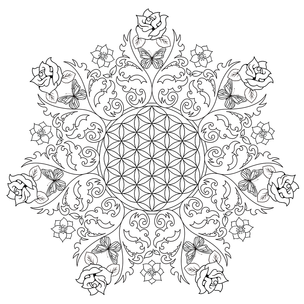 Printable Adult Flower Coloring Pages at GetDrawings.com ...