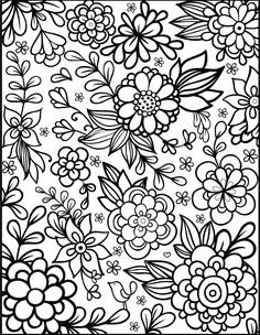Printable Adult Flower Coloring Pages at GetDrawings.com | Free for ...