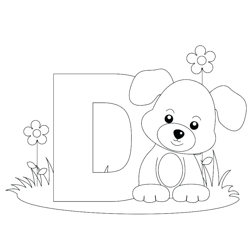 Printable Alphabet Coloring Pages