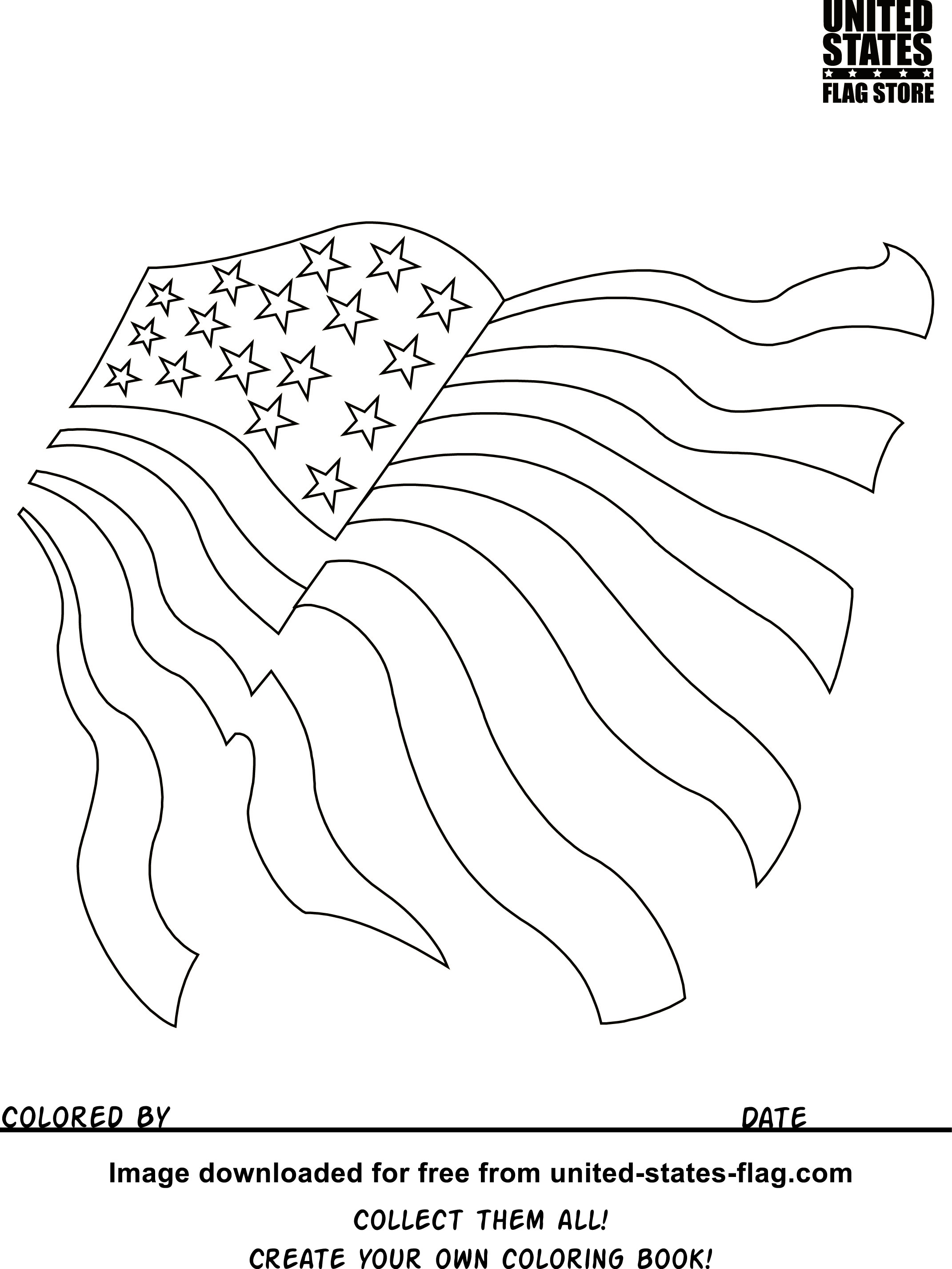 2142x2854 Awesome Free Printable American Flag Coloring Sheets Gulfmik