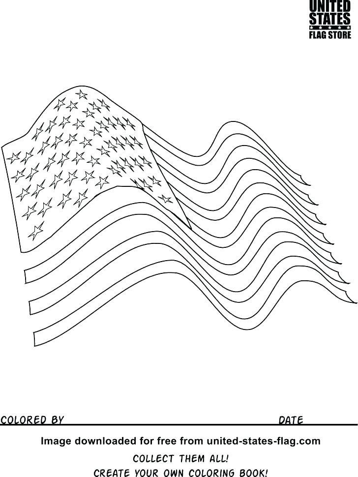 728x970 Printable American Flag Coloring Page Flag Color Page Flag