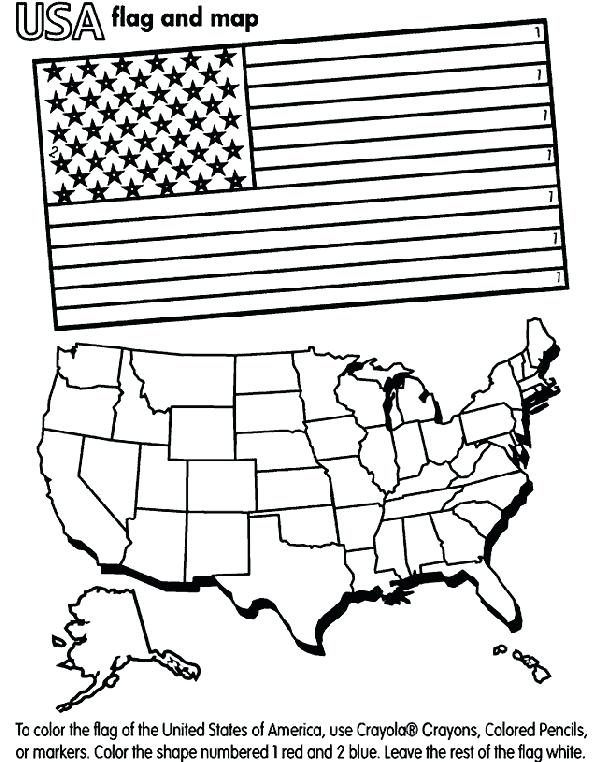 601x762 Printable American Flag To Color Map Coloring Page Free Crafts