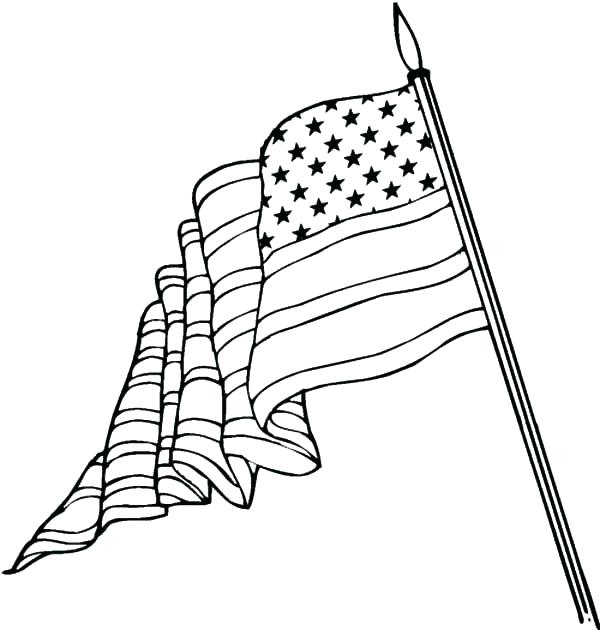 600x630 Printable Flag Coloring Page Free Coloring Pages Us Flag Coloring