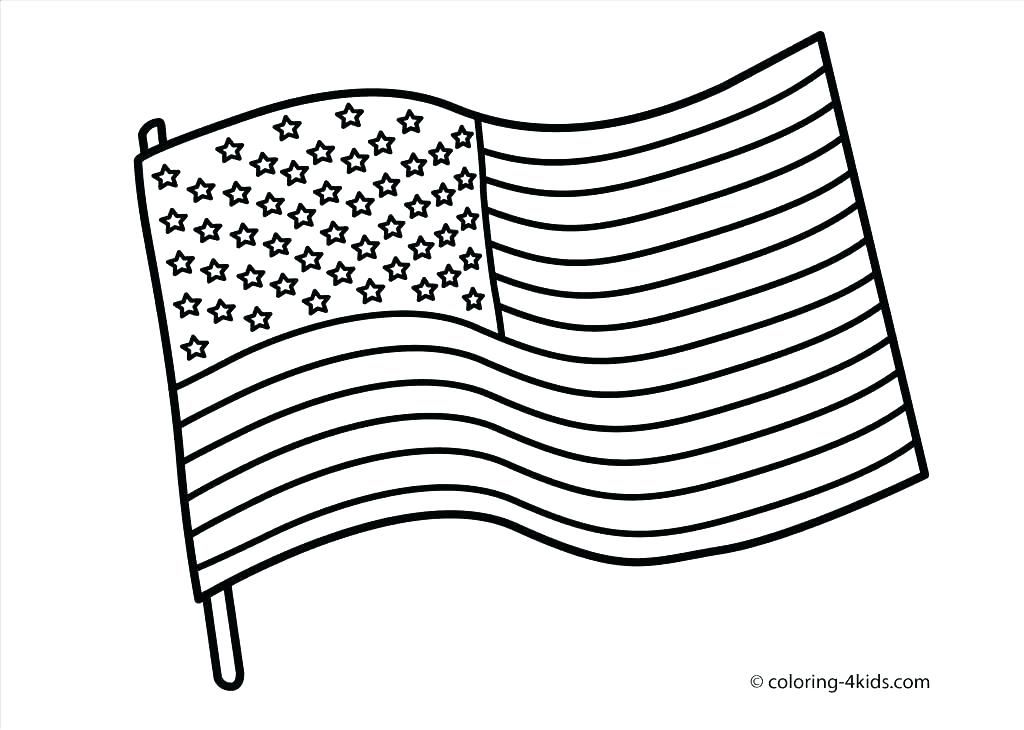 1024x730 The Flag Coloring Page Flag Coloring Pages Free Printable The Flag