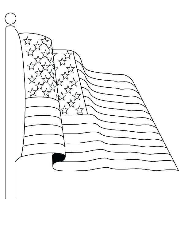600x790 Usa Flag Coloring Pages Flag Coloring Pages Book Free Printable