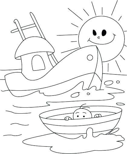 420x511 Free Printable Anchor Coloring Pages Nautical Page Also Hope Naut