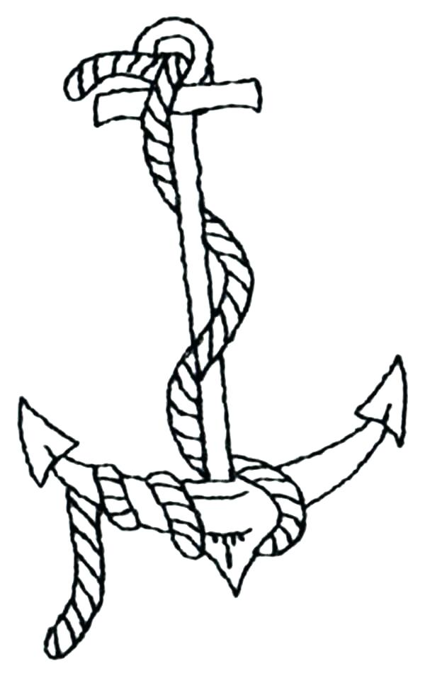 600x951 Picture Of An Anchor To Color Printable Anchor Coloring Pages Best