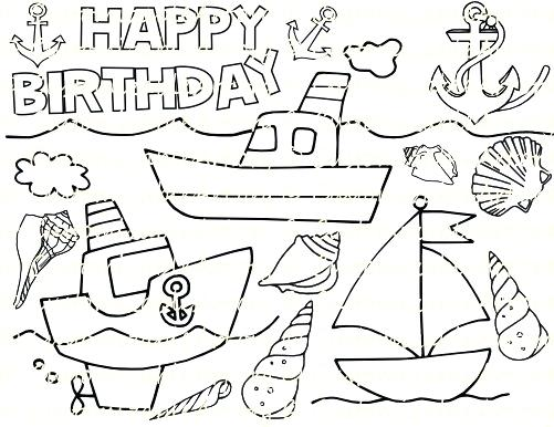 501x386 Anchor Coloring Page