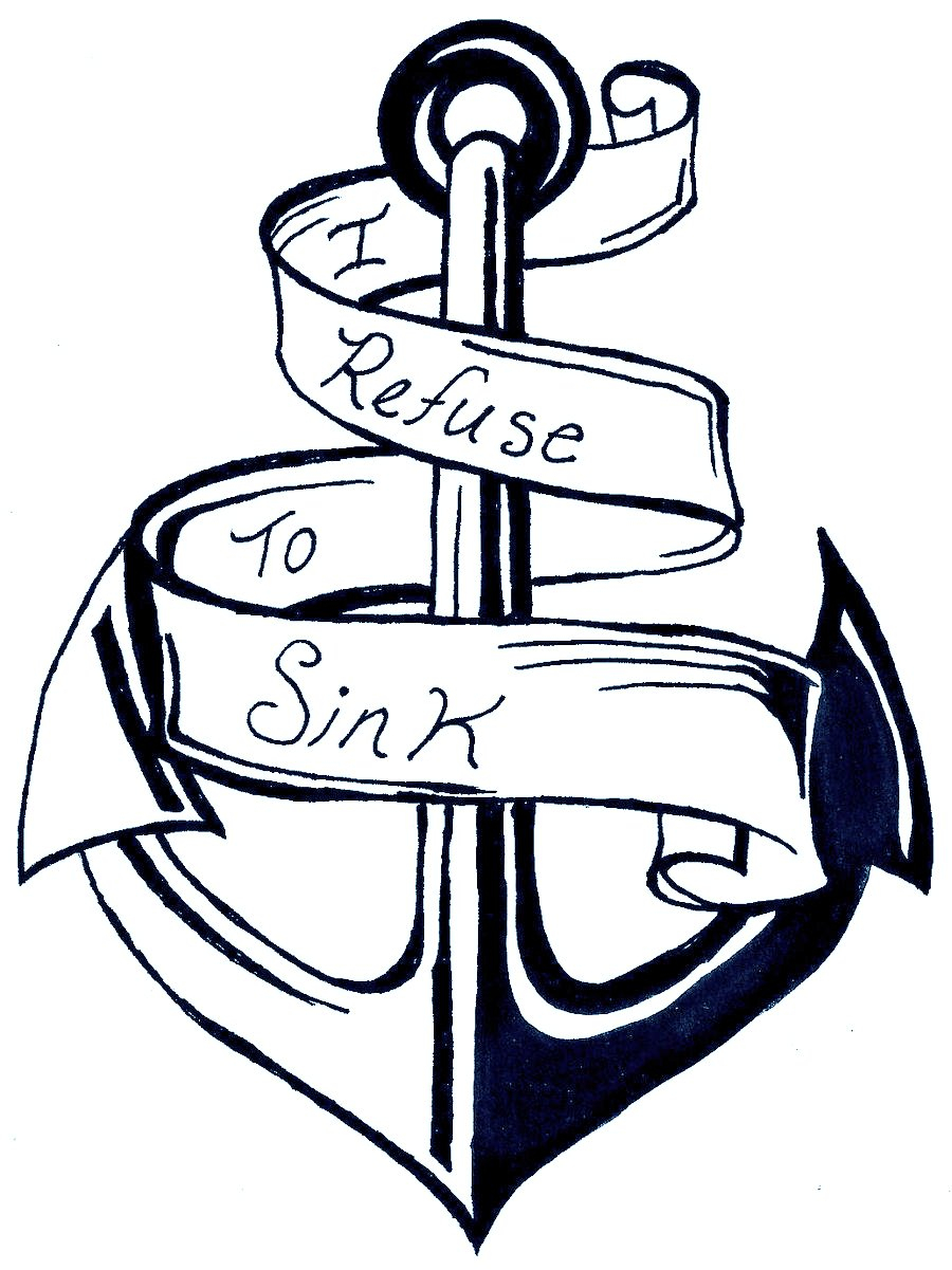 900x1201 Anchor Coloring Page
