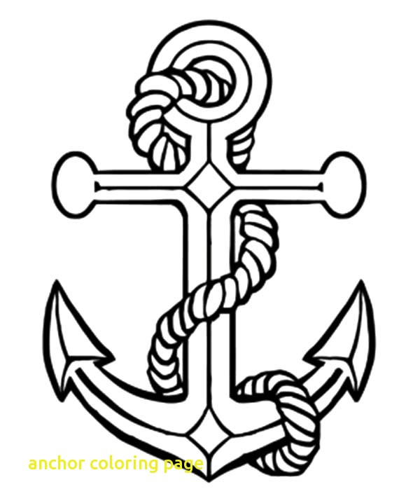 600x718 Anchor Coloring Page