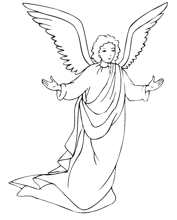 600x743 Angel Coloring Sheets Guardian Angel Coloring Page Angel Coloring