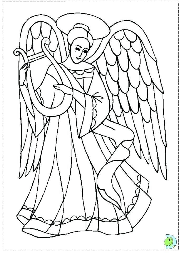 image relating to Printable Angels named Printable Angel Coloring Webpages at  Totally free for
