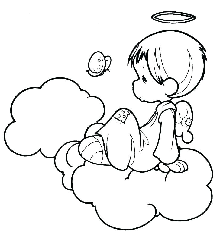 728x790 Angel Coloring Pages Printable Guardian Angel Coloring Page Angel
