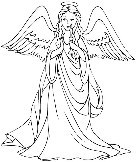 Printable Angel Coloring Pages For Adults at GetDrawings.com ...