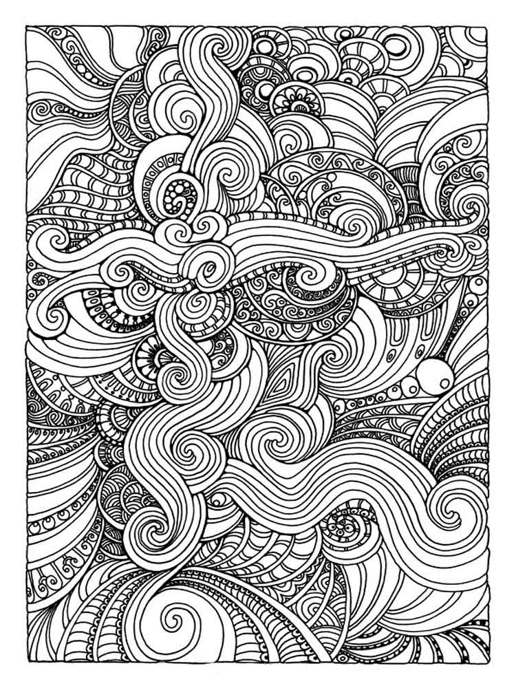 750x1000 Art Therapy Coloring Pages For Adults Free Printable Art Therapy