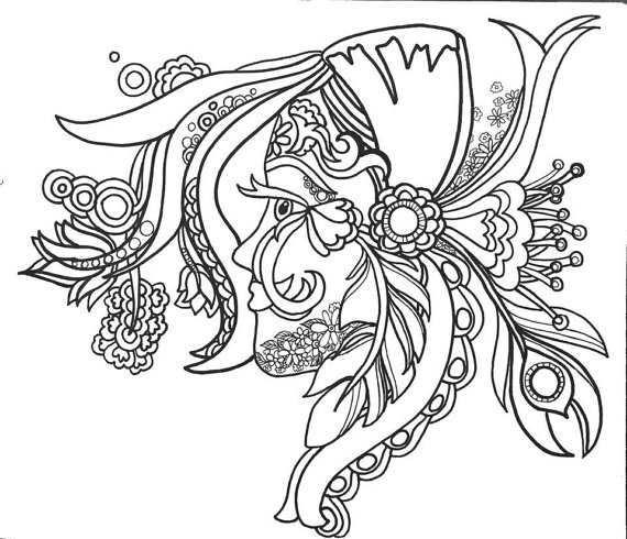 570x490 Coloringpages Funfancyfunkyfaces Original Art