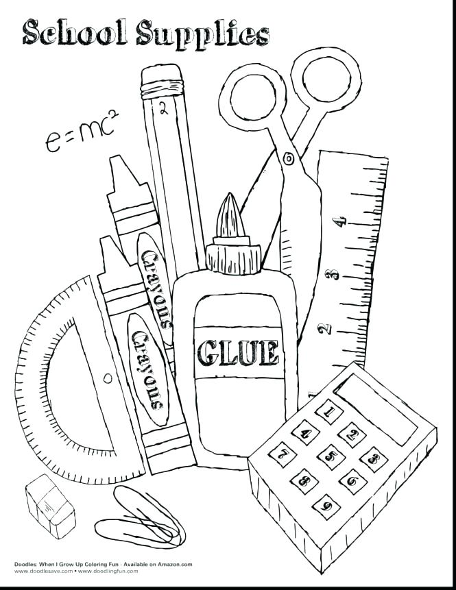 Printable Back To School Coloring Pages