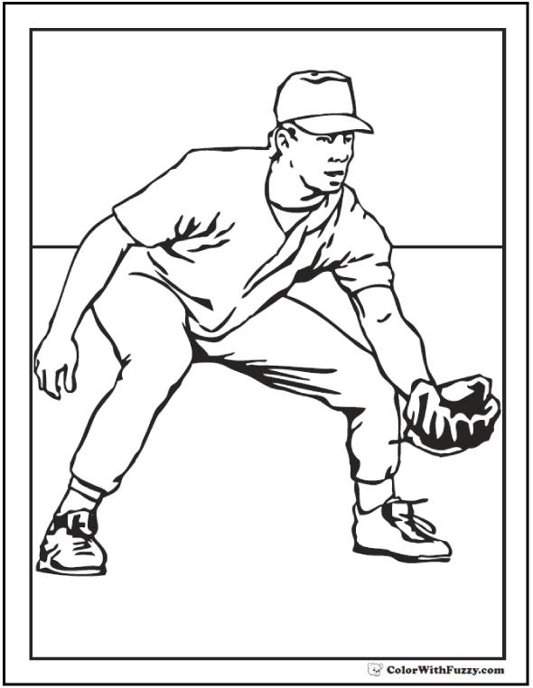 Printable Baseball Coloring Pages At Getdrawings Com Free For