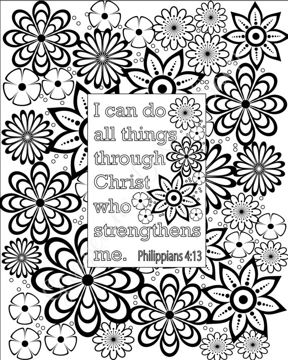 570x712 Flower Coloring Pages Bible Verse Coloring Sheets Set