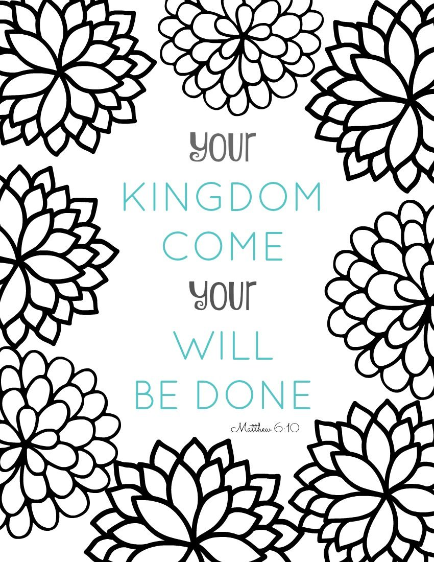 850x1100 Free Printable Bible Verse Coloring Pages With Bursting Blossoms