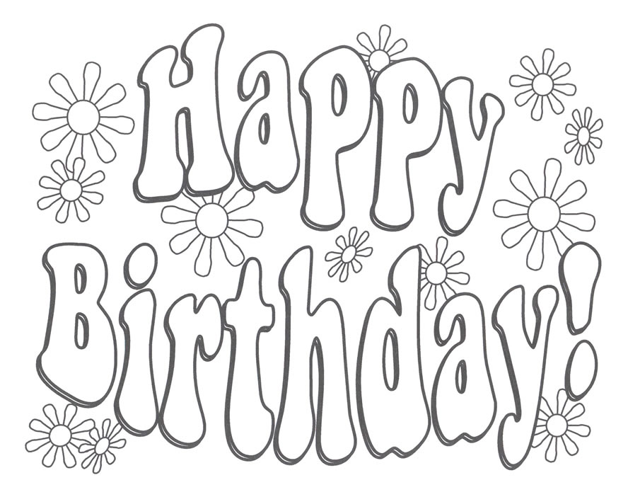 888x702 Happy Birthday Coloring Pages