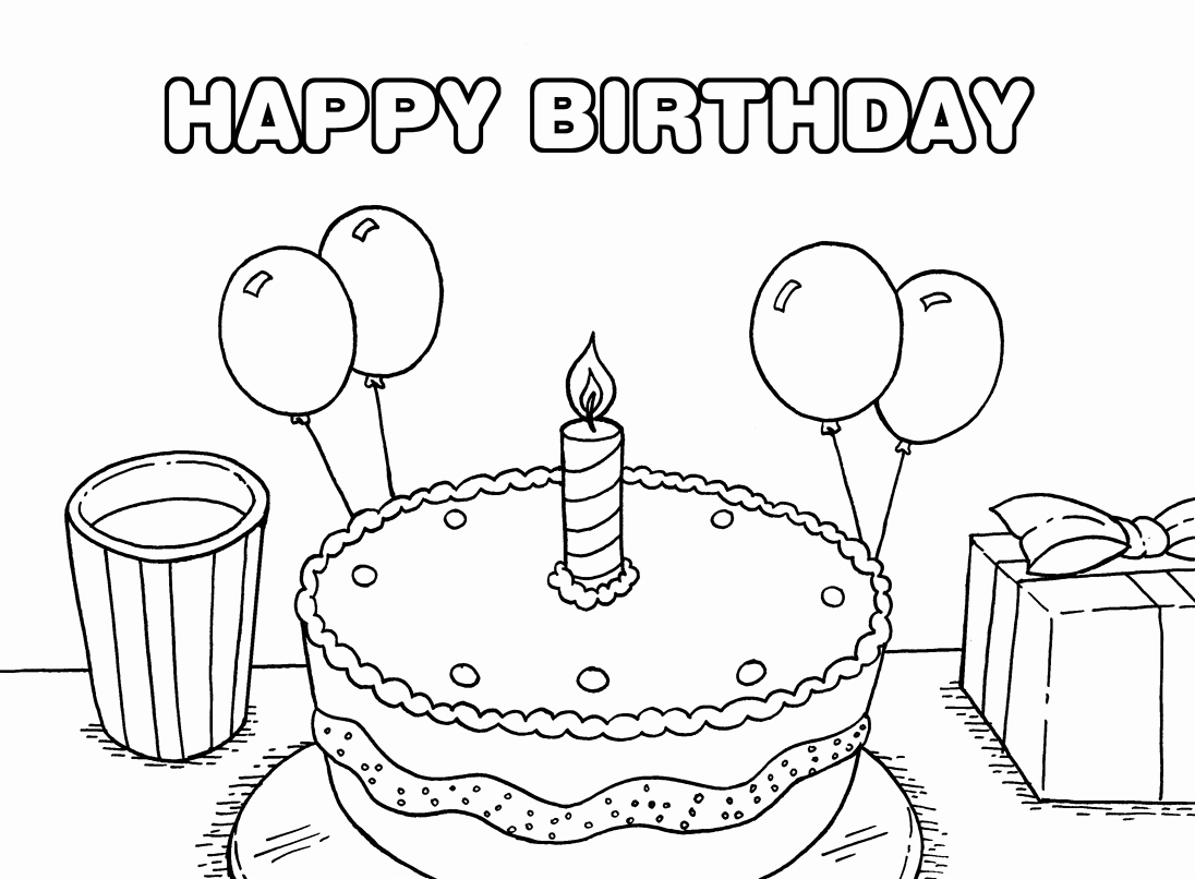 Printable Birthday Coloring Pages at GetDrawings.com | Free for ...