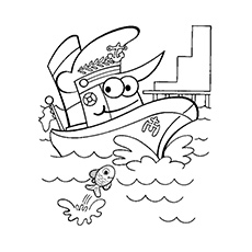 Printable Boat Coloring Pages
