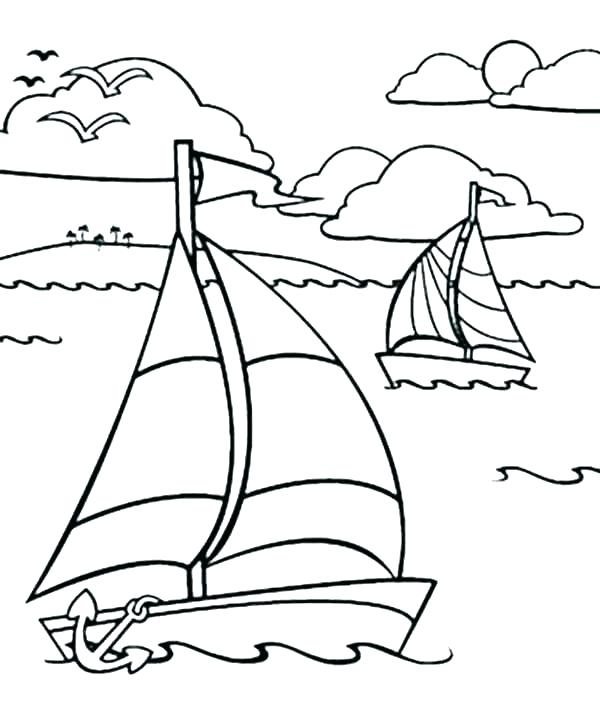 600x704 Printable Boat Coloring Pages For Kids Boat Coloring Page Boat