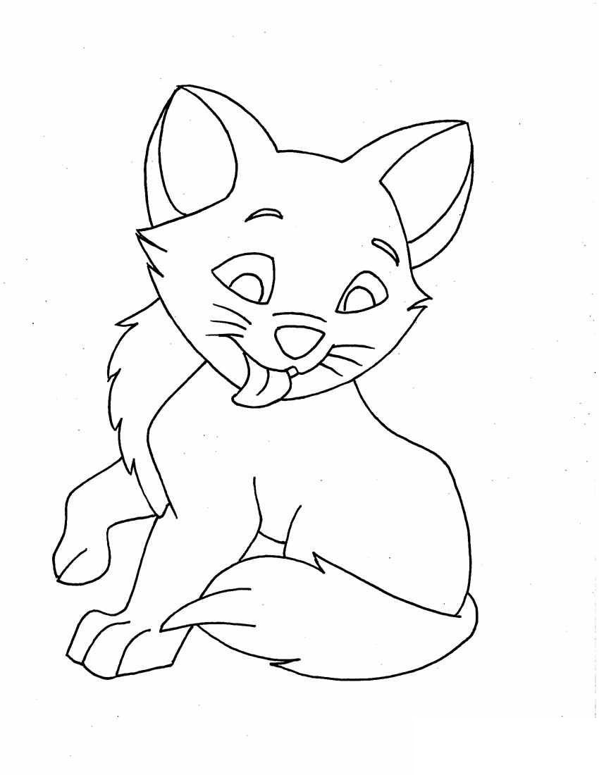 850x1100 Fascinating Printable Cat Coloring Pages For Kids Pic Ideas