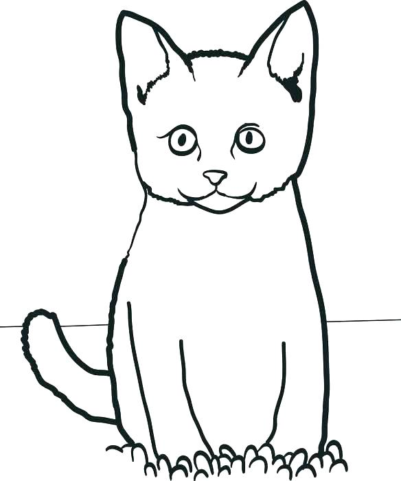 584x700 Hello Coloring Pages Cat Coloring Pages For Kids Cat Coloring