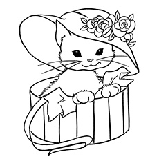 230x230 Top Free Printable Cat Coloring Pages For Kids Kitty