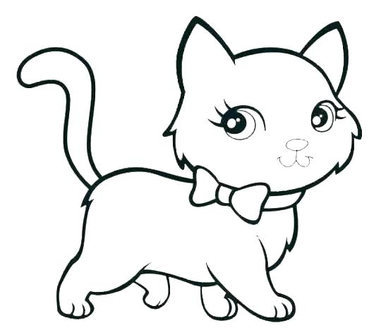 540x468 Cat Coloring Pages Cat Pictures To Print And Color Free Printable