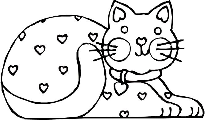 666x390 Cat Coloring Pages Free Printable Cats Coloring Picture Cow Kids