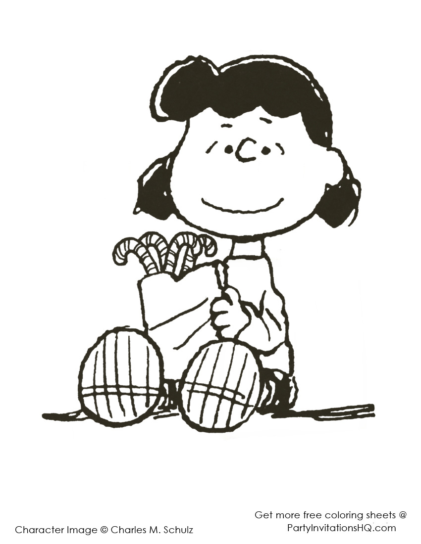 850x1100 To Charlie Brown Characters Coloring Pages