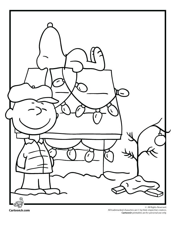 680x880 Cartoon Christmas Coloring Pages A Charlie Brown Coloring Pages