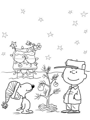 362x480 Charlie Brown Christmas Coloring Pages To Print Click To See