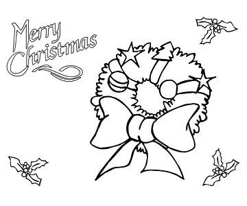 360x300 Printable Christmas Coloring Pages