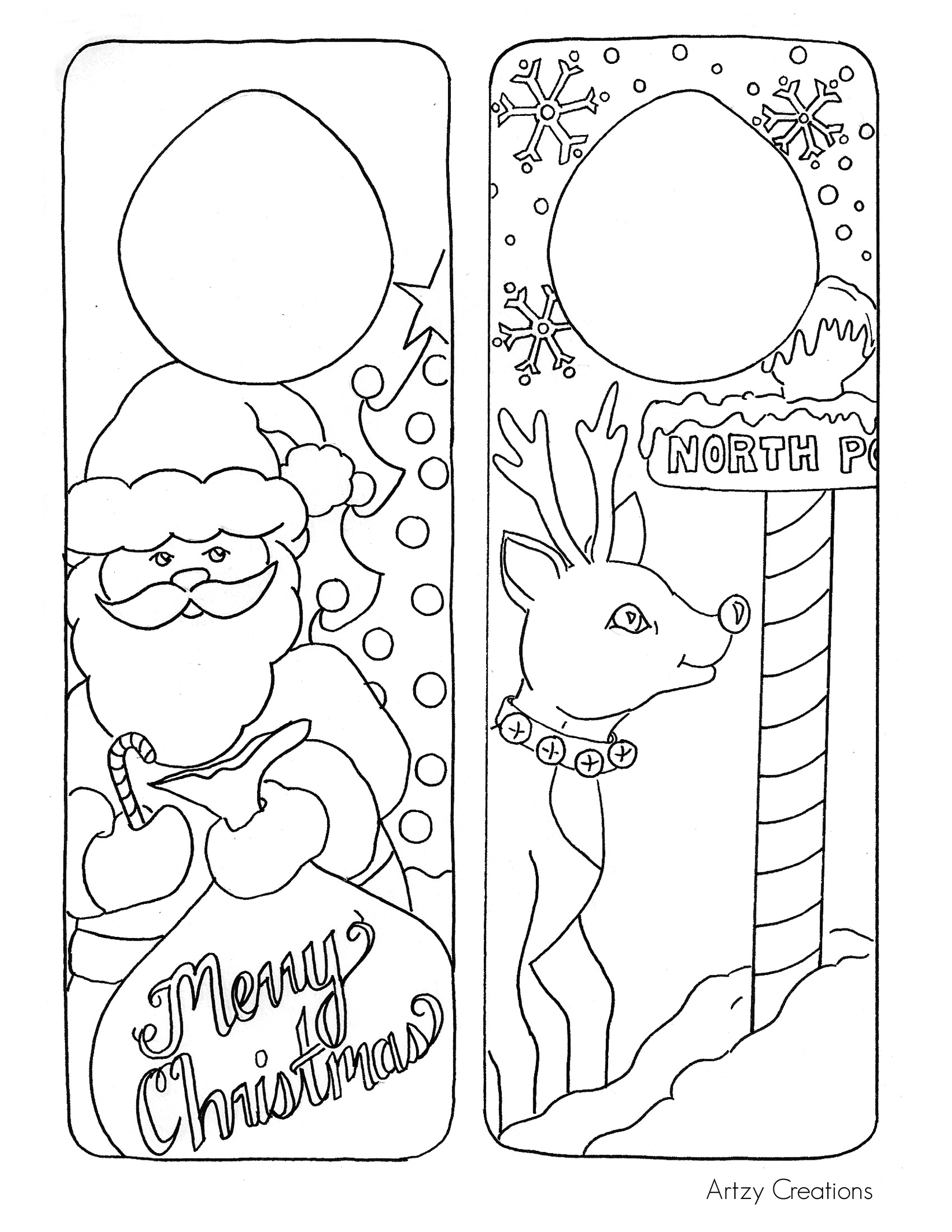 1700x2200 Christmas Coloring Page