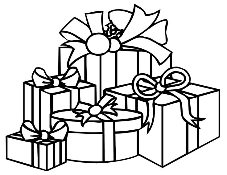 736x568 Christmas Gifts Coloring Pages Preschool For Sweet Draw Print