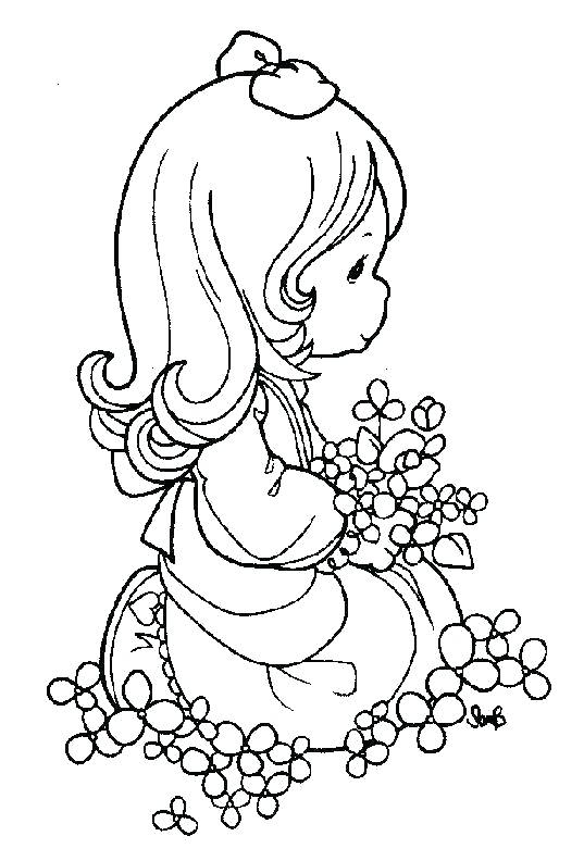 537x792 Christmas Nativity Coloring Pages Printable Precious Moments