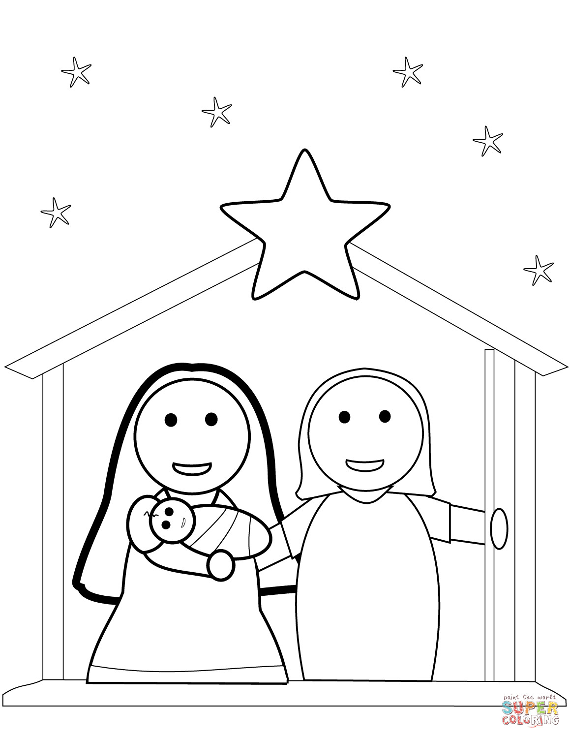 1159x1500 Edge Nativity Color Sheets Free Printable Christmas Coloring Pages
