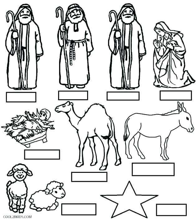 630x709 Free Printable Nativity Coloring Pages Nativity Coloring Elegant