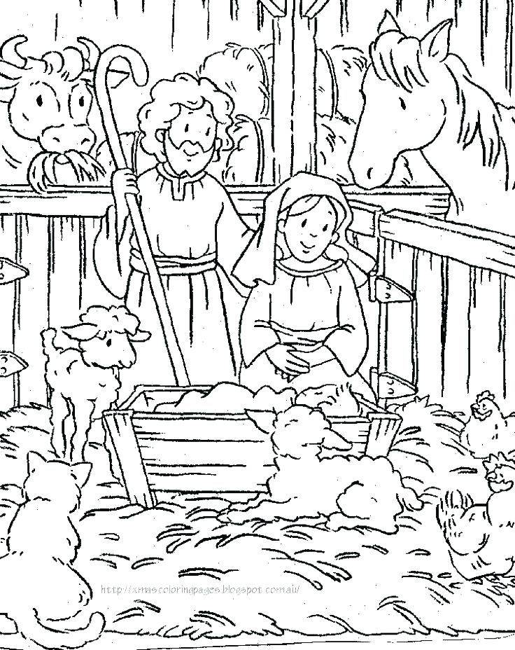 736x928 Free Printable Nativity Coloring Pages Nativity Coloring Page