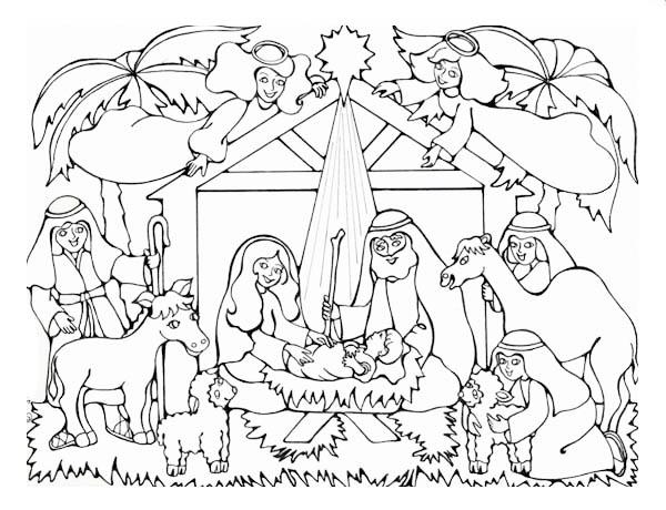 600x460 Neoteric Design Inspiration Printable Christmas Nativity Coloring