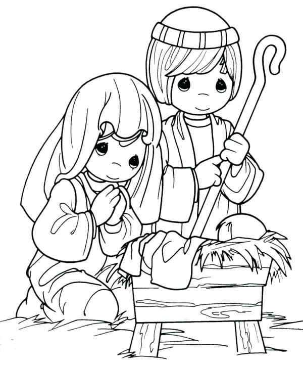 600x726 Precious Moments Coloring Pages Christmas