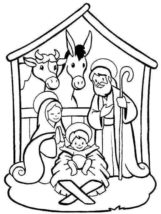 514x682 Printable Nativity Coloring Pages