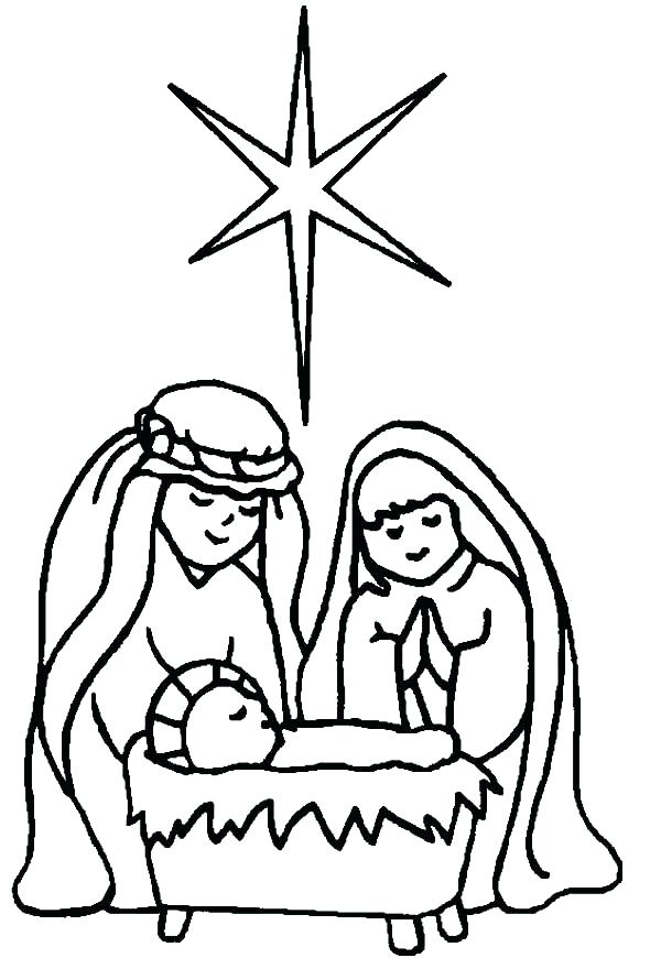600x870 Baby Jesus Coloring Pages Printable Printable Christmas Nativity