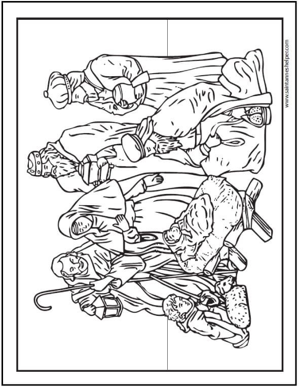 590x762 Christmas Nativity Coloring Pages