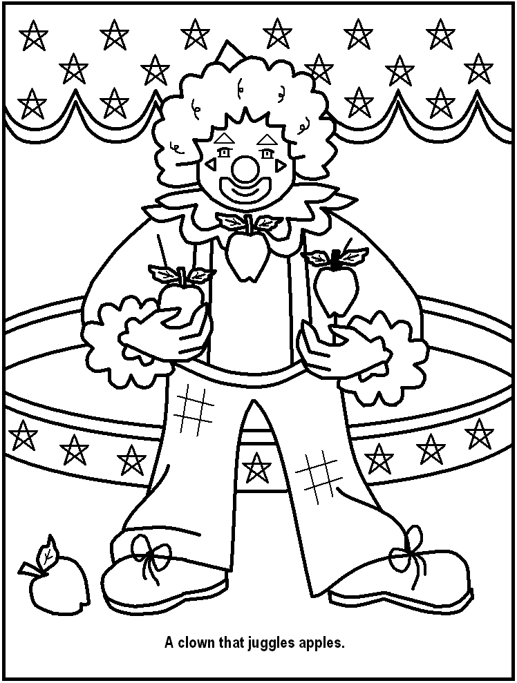 Printable Circus Coloring Pages